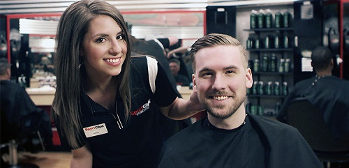 Sport Clips Haircuts of Richmond - Shops at Kickback Jack's​ stylist hair cut